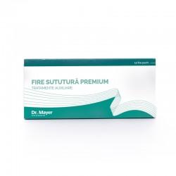 12 Fire Sutura Premium SILK 4/0 cu ac de 17mm ½ sectiune triunghiulara Dr.Mayer