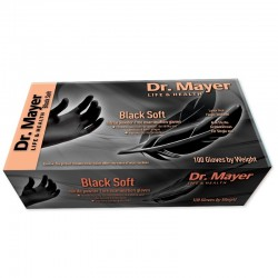 Manusi nitril negre soft Dr. Mayer marimea S