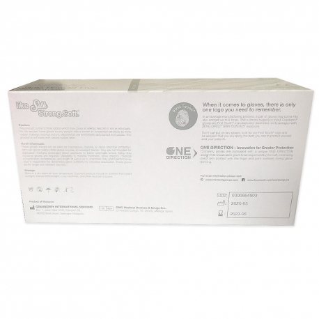 Manusi nitril albe Evolve Cranberry marimea XS