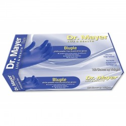 Manusi nitril albastre nepudrate Dr. Mayer, marimea L, 100 buc