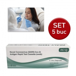 Test Rapid COVID-19 Antigen Realy Tech (set 5 buc)