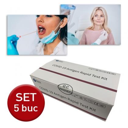 Test rapid COVID-19 Antigen (set 5 buc) cu 5 solutii individuale
