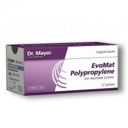 EvoMat Polypropylene 12 fire sutura polipropilen 5/0 cu ac 18mm ½ Dr.Mayer