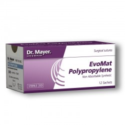 EvoMat Polypropylene 12 fire sutura polipropilen 2/0 cu ac 18mm ½ Dr.Mayer
