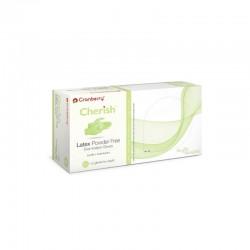 Manusi latex nepudrate Emerald Green Cranberry marimea S