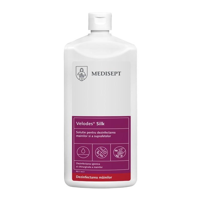 Dezinfectant maini Velodes Silk 500ml