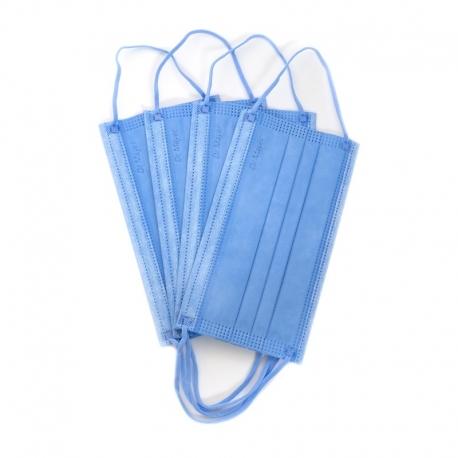 Masca medicala albastra Dr. Mayer 4 straturi full color 50 buc