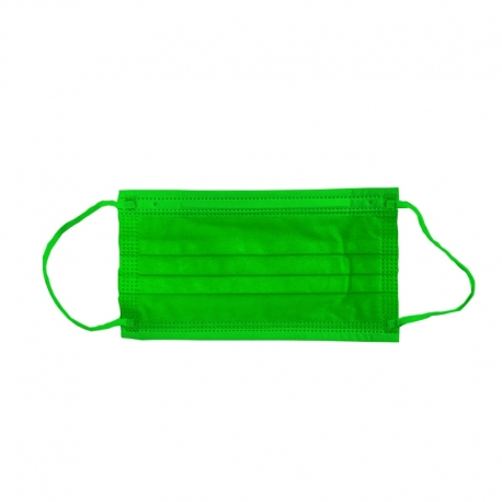 Masca medicala verde Dr. Mayer 4 straturi full color 50 buc