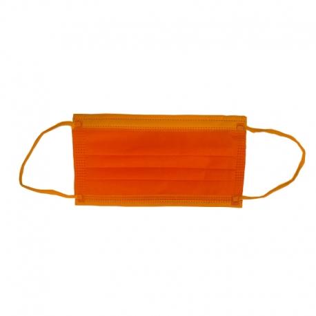 Masca medicala portocalie Dr. Mayer 4 straturi full color 50 buc