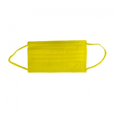 Masca medicala galbena Dr. Mayer 4 straturi full color 50 buc