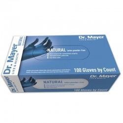Manusi examinare latex nepudrate blue marimea L Dr.Mayer 100 buc