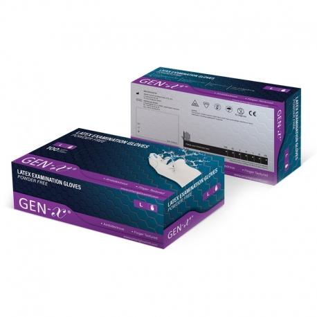 Manusi examinare latex nepudrate Gen-X marime M Smart Glove