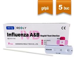 Test Rapid Gripa Influenza A&B Realy Tech Nazofaringian (5 buc)