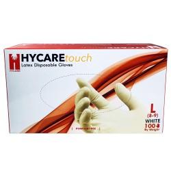 Manusi Latex Nepudrate Albe Hycare L 100 buc