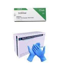 PACHET PROMO: TEST COVID-19 Testsealabs LA 1 LEU + MANUSI NITRIL XL SERIX NAVY 100 BUC