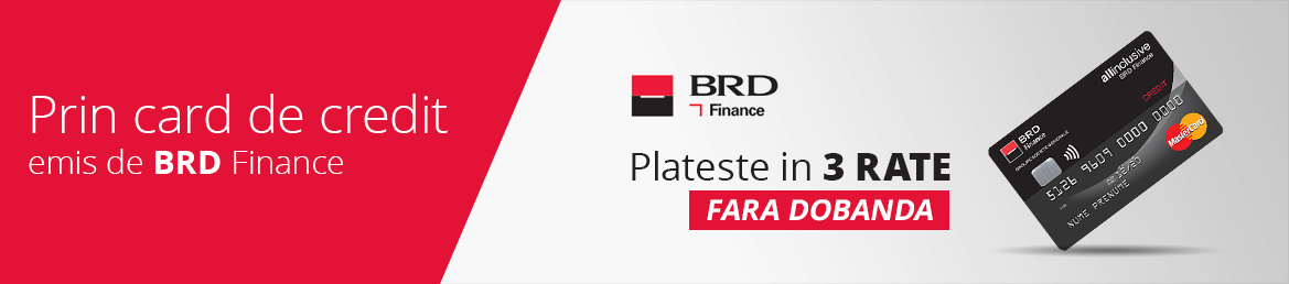 Prin card de credit emis de BRD Finance